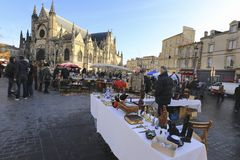 Flea market at Place de Saint Michael Stock Images