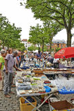 Flea market at Place du Jeu de Balle Royalty Free Stock Photography
