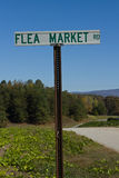 Flea Market Road Sign Royalty Free Stock Photography