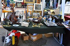 Flea market in Romania Royalty Free Stock Photography