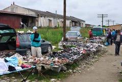 Flea market shoes Stock Photos