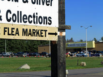 Flea Market Sign Stock Photo