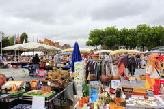 Flea market stands Bruges Belgium Royalty Free Stock Image