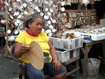 Flea market store in Dapitan Arcade known for selling a wide variety of houseware and home decor. Stock Images