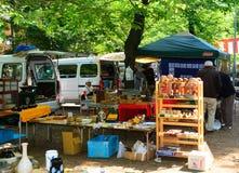 Flea market, Tokyo, Japan Stock Images
