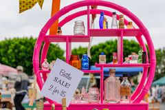 Flea market with various merchandise Royalty Free Stock Image