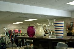 Flea Market Vases and Pitchers Royalty Free Stock Image