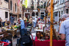 Flea Market in Venice Royalty Free Stock Images