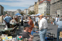 The flea market in Vienna Stock Photos