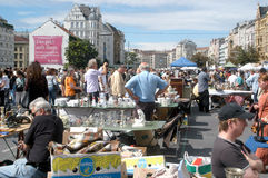 The flea market in Vienna royalty free stock images