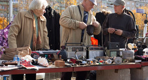 Flea market in Vilnius Royalty Free Stock Images