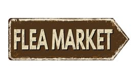 Free Flea Market Vintage Rusty Metal Sign Royalty Free Stock Photography - 162049437