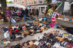 Flea market Waterlooplein in Amsterdam Royalty Free Stock Image