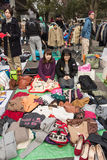 Flea Market at Yoyogi Park in Harajuku, Japan Stock Images