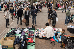 Flea Market at Yoyogi Park in Harajuku, Japan Stock Photo