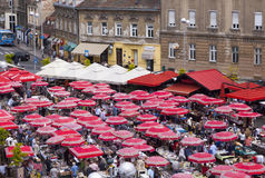 Flea market in Zagreb Stock Photography