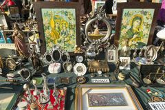 Flea market in Zagreb, Croatia Royalty Free Stock Image