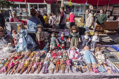 Flea market in Zagreb, Croatia Stock Images