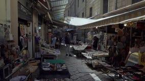 The flea and traditional market at Discesa Maccheronai street in Palermo