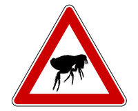 Flea warning sign Royalty Free Stock Photos