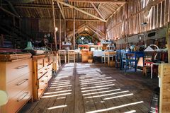 Fleamarket in a beautiful barn stock photography