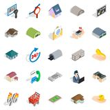 Fleapit icons set, isometric style. Fleapit icons set. Isometric set of 25 fleapit vector icons for web isolated on white background Stock Photo