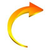 flecha 3d Fotos de archivo