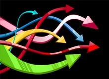 Flecha abstracta de la ilustración Imagen de archivo libre de regalías