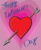 Flecha al corazón stock de ilustración