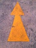 Flecha amarilla Imagenes de archivo