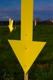 Flecha amarilla Foto de archivo