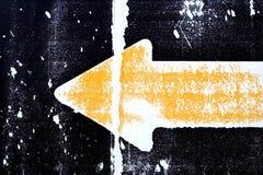 Flecha amarilla de Grunge Imagen de archivo