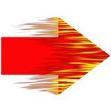 Flecha ardiente Fotografía de archivo