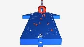 Flecha azul de la información Foto de archivo