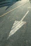 Flecha blanca Imagen de archivo