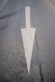 Flecha blanca del camino Imagenes de archivo