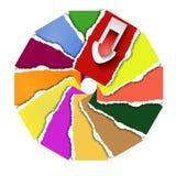 Flecha, círculo Imagen de archivo