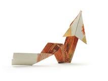 Flecha cinco mil notas de la rublo Imagen de archivo libre de regalías