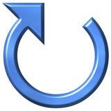 flecha circular azul 3D Foto de archivo