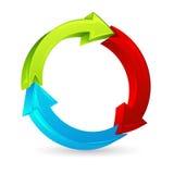 Flecha colorida Foto de archivo libre de regalías