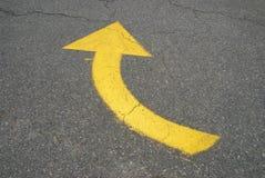 Flecha de giro a la derecha Fotos de archivo libres de regalías