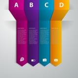Flecha de la banda del infographics del ejemplo del vector Libre Illustration