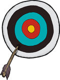 Flecha de la blanco Imagenes de archivo