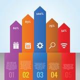 Flecha de la carta de Infographic Imagen de archivo libre de regalías