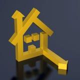 Flecha de la casa Imágenes de archivo libres de regalías