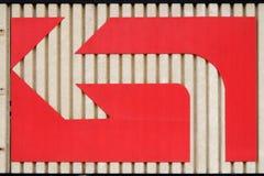 Flecha de la curva de la izquierda Imágenes de archivo libres de regalías