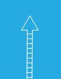 Flecha de la escalera para arriba Foto de archivo libre de regalías