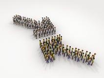 Flecha de la gente bicolor