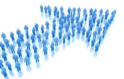 Flecha de la gente: concepto del asunto. Fotos de archivo libres de regalías