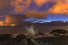 Flecha de la luz septentrional Imagen de archivo libre de regalías